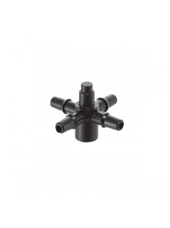 Адаптер для капельниц Presto-PS на 4 выхода для капельной трубки 3,5 мм, в упаковке - 100 шт. (5135)