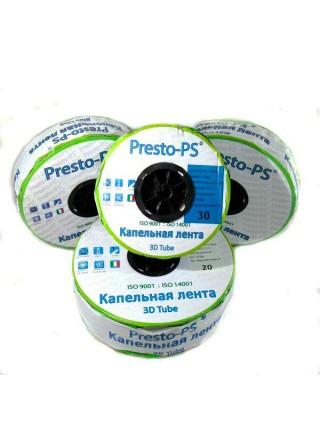 Капельная лента Presto-PS эмиттерная 3D Tube капельницы через 10 см  расход 2.7 л/ч, длина 500 м (3D-10-500)