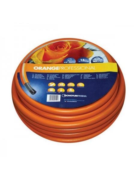 Шланг садовый Tecnotubi Orange Professional для полива диаметр 1/2 дюйма, длина 15 м (OR 1/2 15)