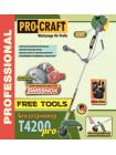 Бензокоса ProCraft T-4200 Pro Free Tools