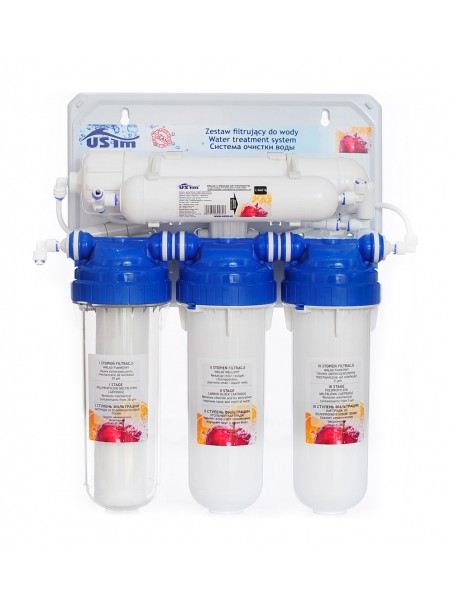 Фильтр для очистки воды с обратным осмосом USTM RO5-WFU Польша