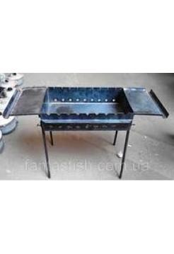 Мангал с двумя столиками, 3 мм, 9 шампуров