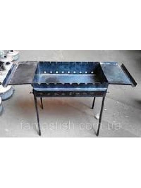 Мангал с двумя столиками, 3 мм, 11 шампуров