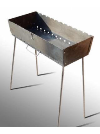 Мангал Чемодан облегченный, 1,2 мм, 10 шампуров