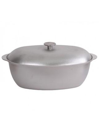 Гусятница литая алюминиевая с крышкой 8 л (ГО800)