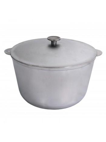 Казан литой алюминиевый с крышкой (6 л) К0600 Биол