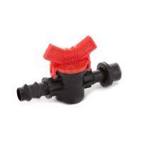 Кран старт с резинкой для 16мм капельной трубки (50шт-уп) № OV-0416-R