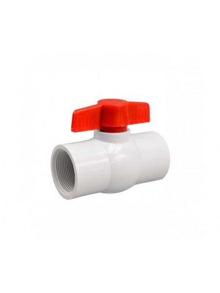 Кран шаровый белый 1/2д. (10шт-уп) № PF-0120