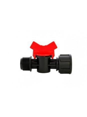 Кран с 1/2 наружной - 3/4 внутренней резьбой (50шт-уп) № MF-011234