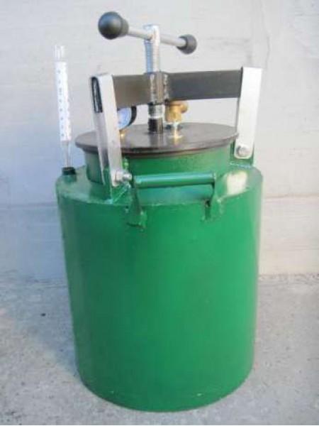 Автоклав зеленый винт маленький газовый