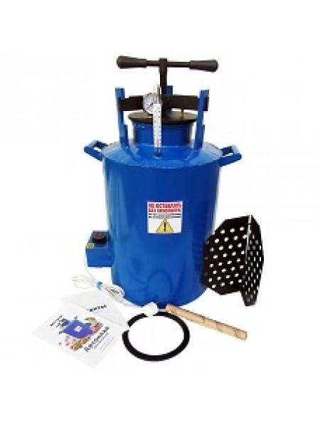 Автоклав бытовой электрический синий большой 0,5л - 20 банок или 1,0л - 13 банок