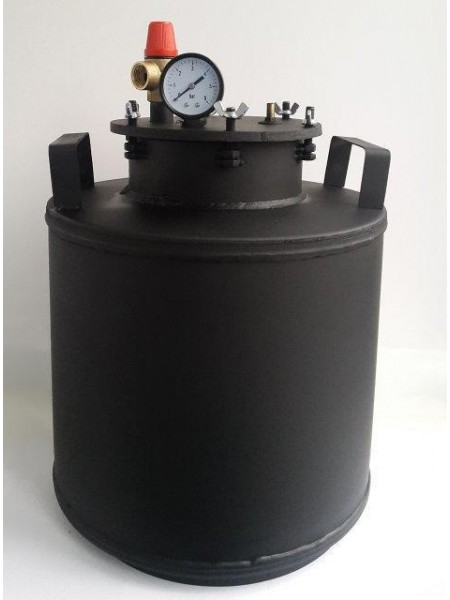 Автоклав газовый большой черный болты