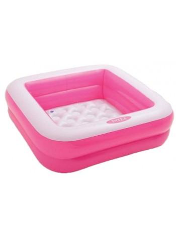 """Детский надувной бассейн """"Песочница"""" INTEX 85х85х23 см ( 57100) розовый"""