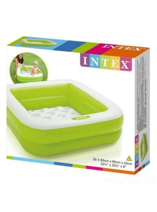 """Детский надувной бассейн """"Песочница"""" INTEX 85х85х23 см ( 57100) зеленый"""