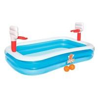Бассейн Bestway с баскетбольными надувными кольцами 254х168х102 см (54122)