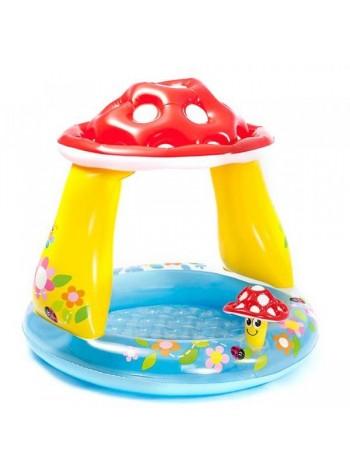 Детский надувной бассейн Intex Грибок (57114), 102-89см
