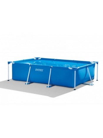 Бассейн каркасный Rectangular Frame Pool Intex 260x160x65 см (28271) (58980)