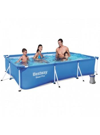 Каркасный бассейн Bestway 56411, 300 х 201 х 66 см (фильтр насос 1 250 л/ч)