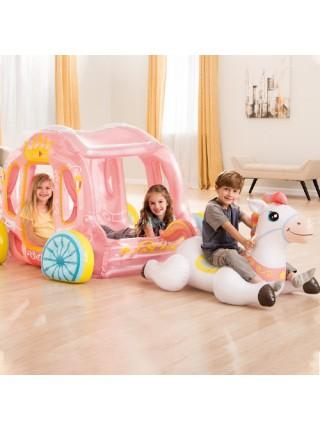 Надувной игровой центр - карета в упряжке Intex 56514, 145 x 135 x 104 см