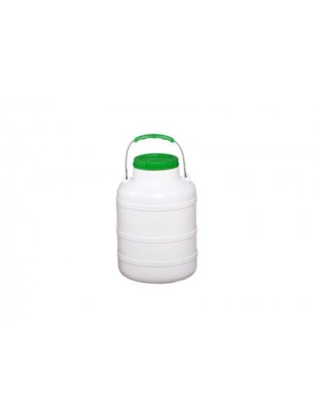 Фляга пластмассовая пищевая 10 л, горловина 104 мм Лемира