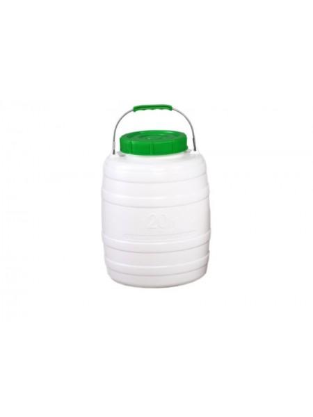 Бочка пищевая пластмассовая 20 л, горловина 156 мм