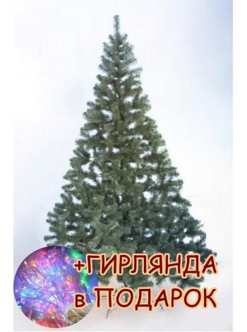 Елка новогодняя искусственная Сказка 4,0 м, зеленая ПВХ (ЯШК-З-4,00)