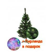 Новогодняя ель искусственная Сказка, 1,80 м, зеленая ПВХ (ЯШК-З-1,80)
