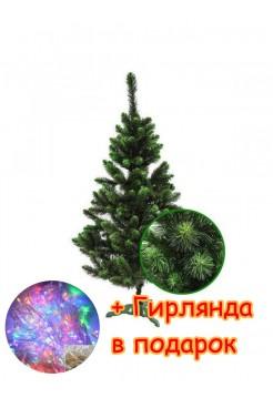 Ель искусственная Сказка 2,2 м, ПВХ, зеленая (ЯШК-З-2,20)