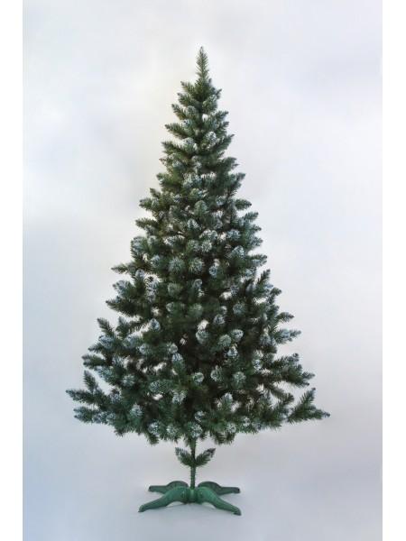Искусственная ель Лидия 1,8 м зеленая с белыми кончиками, ПВХ (ЯШЛ-БК-1,80)