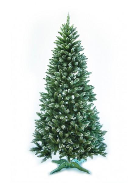 Искусственная ель Лидия 2,0 м зеленая с белыми кончиками, ПВХ (ЯШЛ-БК-2,00)