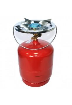 Балон газовий побутовий 8 л. бутан с горелкой Кемпинг