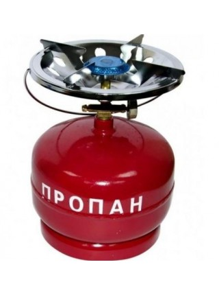 Балон газовий побутовий 5 л. бутан с горелкой Кемпинг