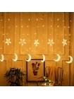 LED гирлянда Звезды и луна YS - 84009