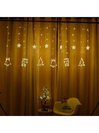 LED гирлянда Елочки и звезды YS - 84013