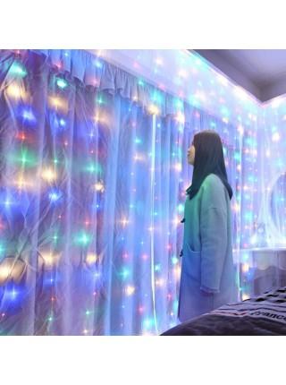 LED гирлянда Роса YS - 84017 3*3 + пульт