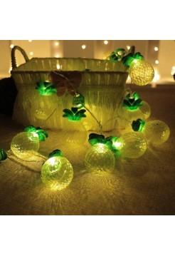 LED гирлянда фигурки ананас 20 Led, 3м