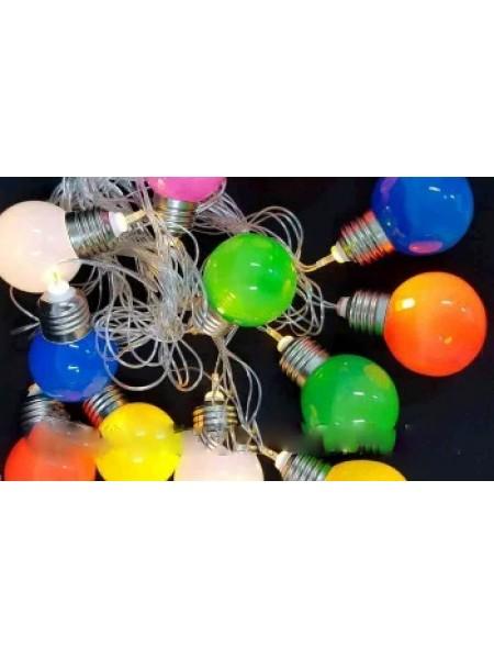 LED гирлянда фигурки фрукты 12 Led, 5м
