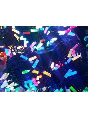Гирлянда новогодняя Рубин восьмигранный на 500 лампочек