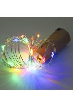 Гирлянда Роса-пробка на батарейках 20 LED
