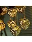 Гирлянда Золотые Сердечки 20 LED
