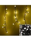 Новогодняя гирлянда штора Шарики 120 лампочек, 5м*0,6м YS - UK015