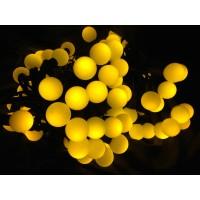 Новогодняя гирлянда Шарик 50 лампочек, на черном кабеле, цветная