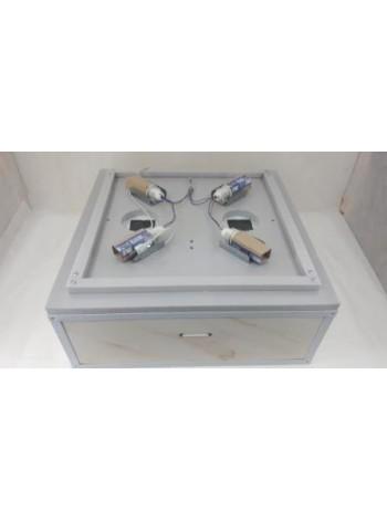 Инкубатор для яиц Курочка Ряба 130 в пластиковом корпусе с механическим переворотом, цифровая