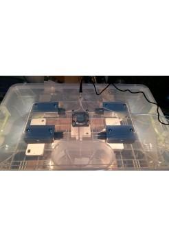 Инкубатор для яиц Курочка Ряба 56, в пластиковом корпусе, вентилятор, 4 лампы