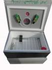 Инкубатор для яиц Наседка ИБМ 100 механический, аналоговый. Резаный пенопласт, бока обшиты металлом, внутри нерж сетка