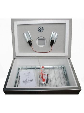 Инкубатор для яиц Наседка ИБМ 70 с механическим переворотом в металлическом корпусе