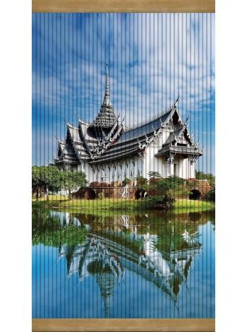 Настенный обогреватель картина Дом у озера