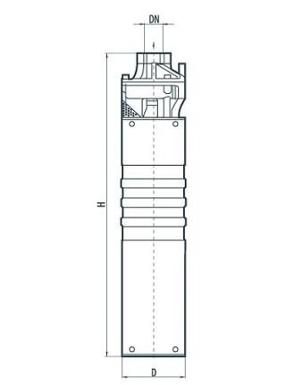 Вихревой скважинный насос Sprut 3Skm 100