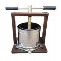 Пресс ручной для вина и сока Вилен на 25 литров (нержавеющая сталь)