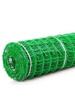 Сетка 95*85 пластмассовая 1.0х20 м (зеленая) квадрат